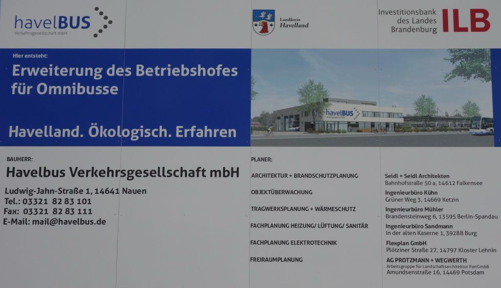 Neubau Busbetriebshof für E-Mobilität und alternative Antriebe in Falkensee